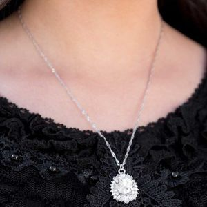 The first Edition white stone necklace